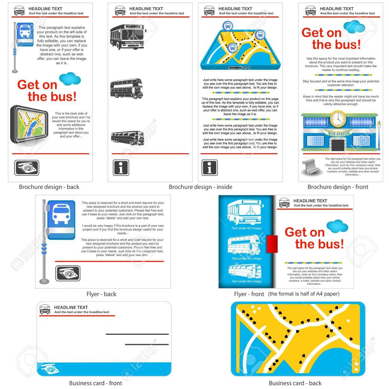 Bus Travel Template Design Brochure Design Flyer Design And