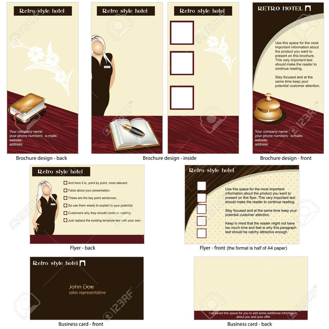 Hotel Retro-Vorlage - Broschüre Design, CD-Cover-Design Und ...