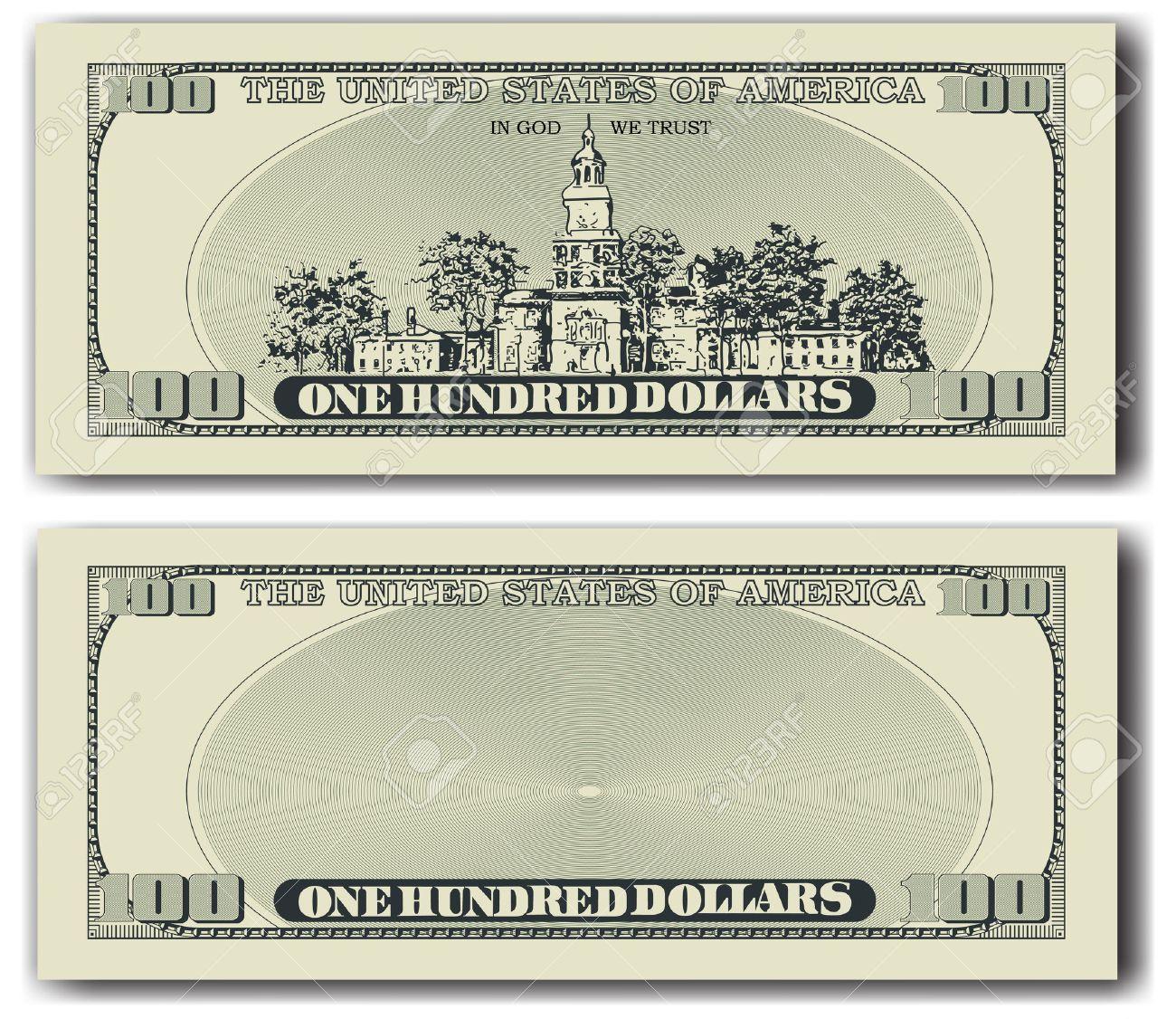 100 dollar bill other side - 58040074
