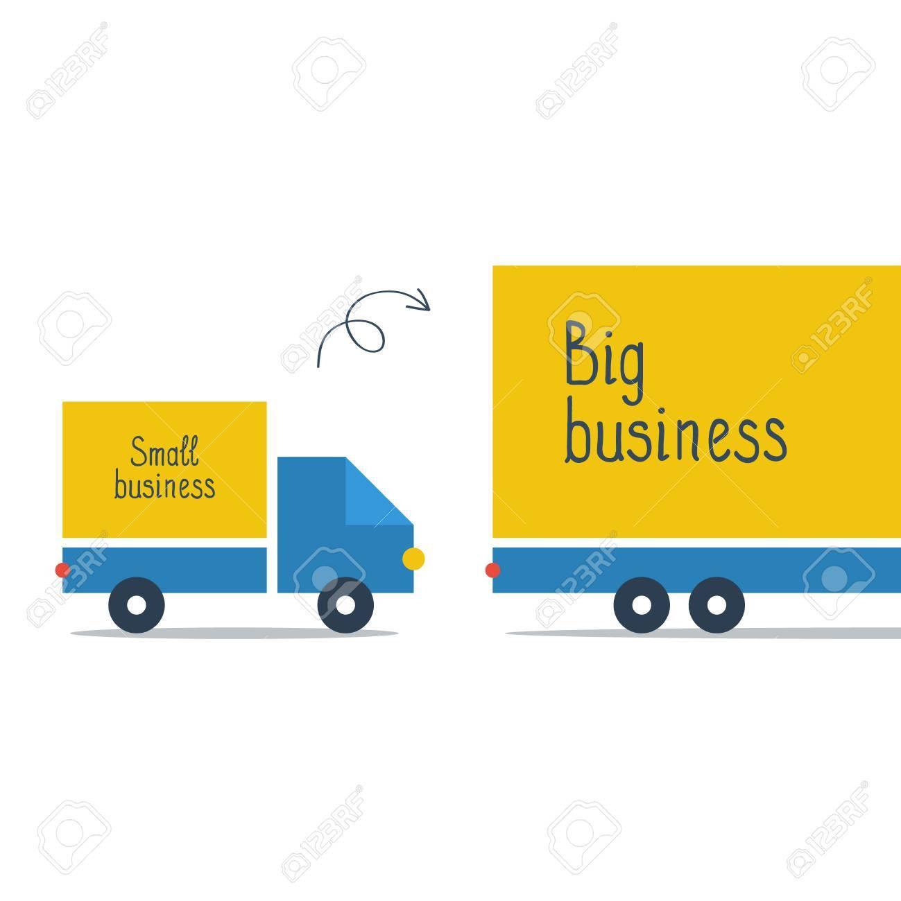 Business size comparison or enlargement - 49589782