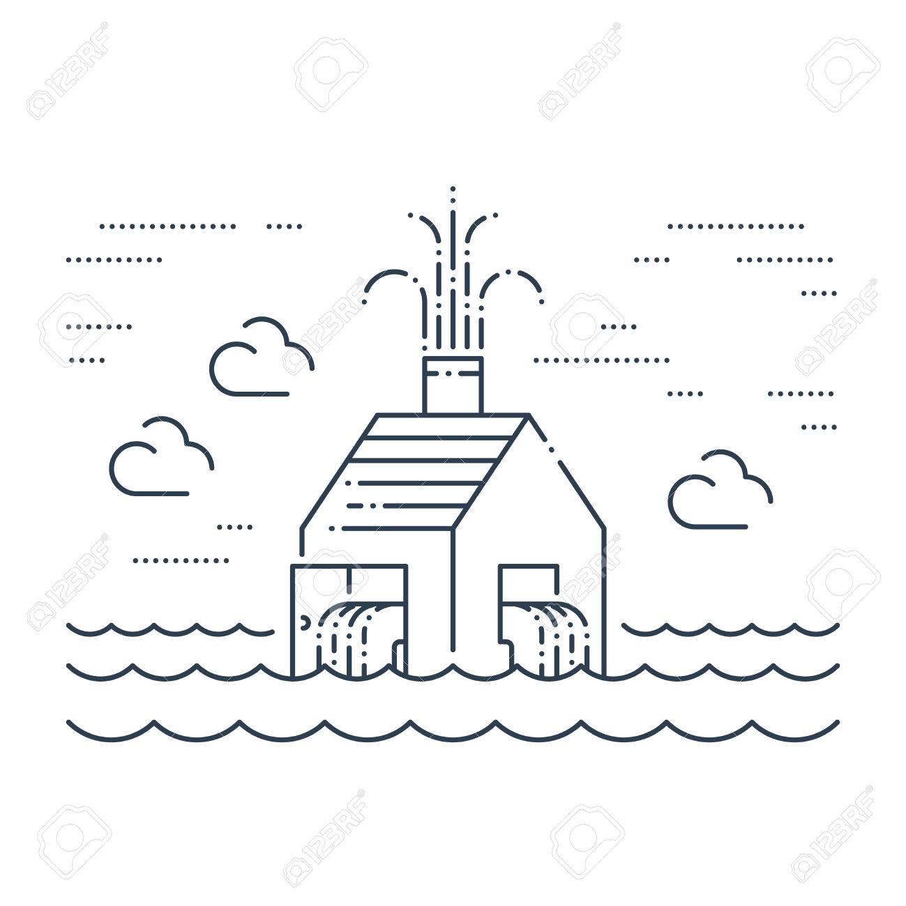 Pipe break, poor plumbing, flooding. Insurance service concept. - 49711765