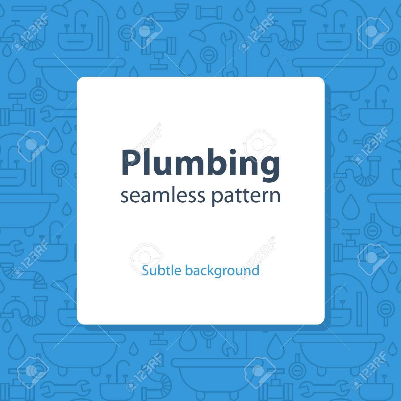 Seamless pattern, plumbing theme - 49660097