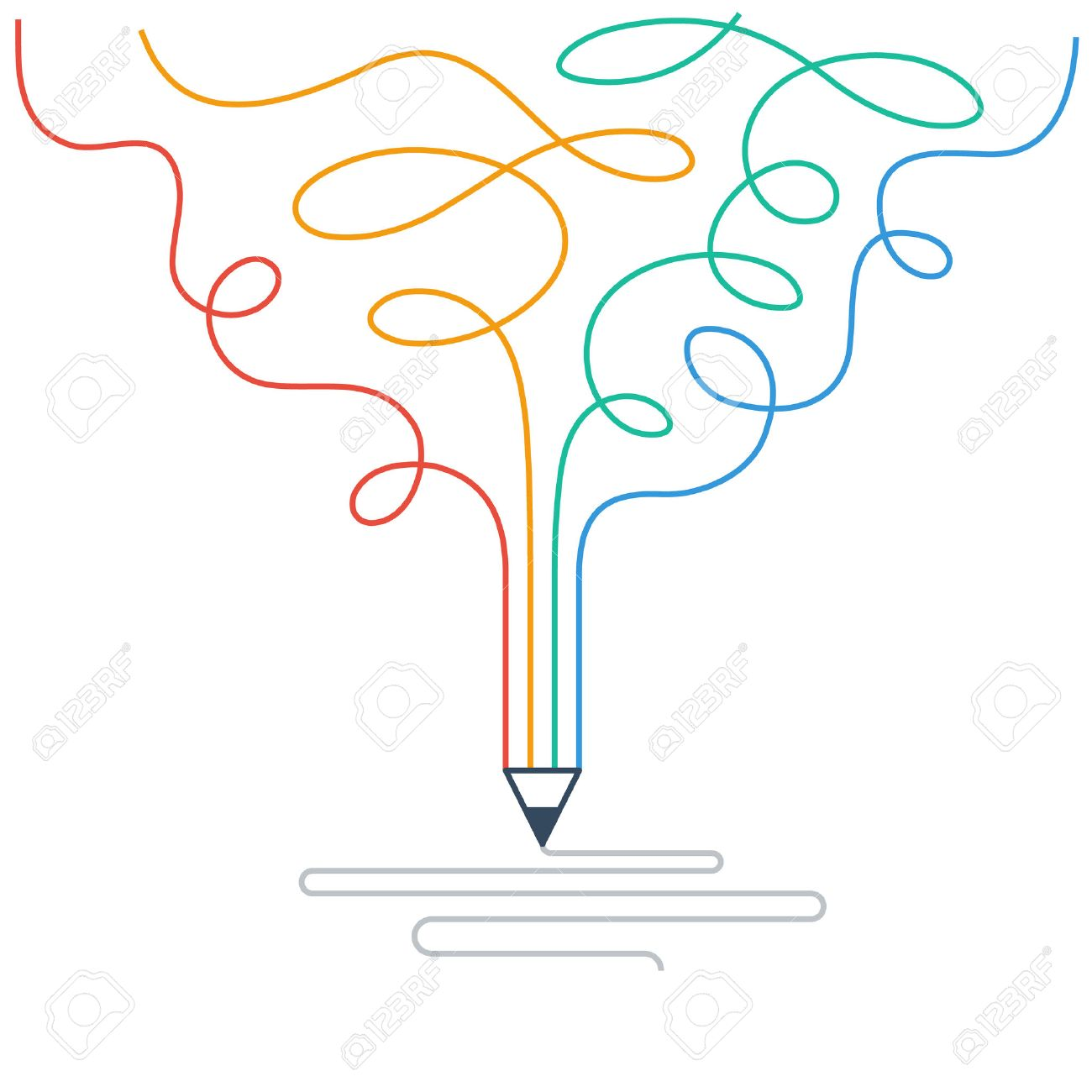Creative writing. Storytelling. Graphic design studio symbol - 53250493