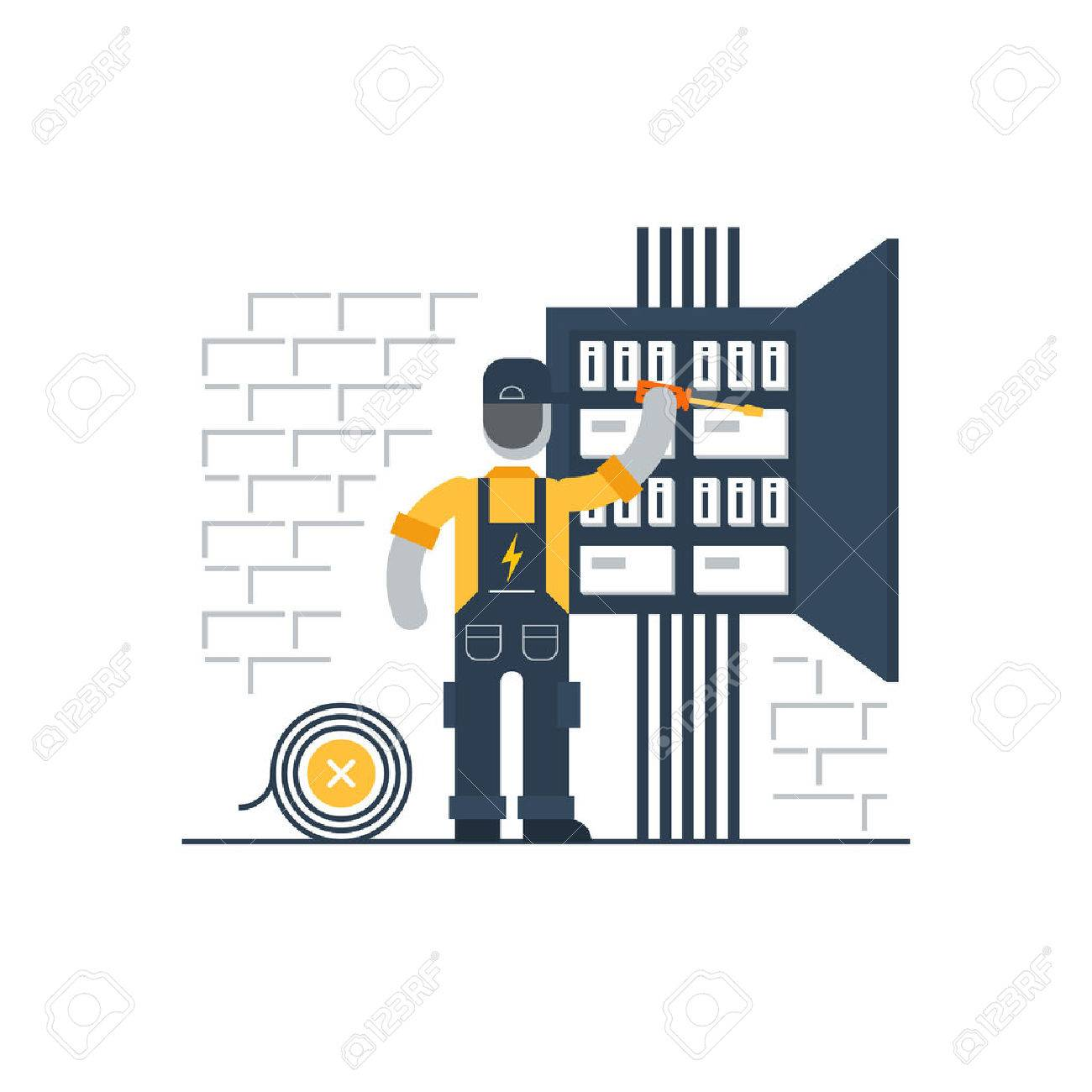 Electrician at work - 53334803