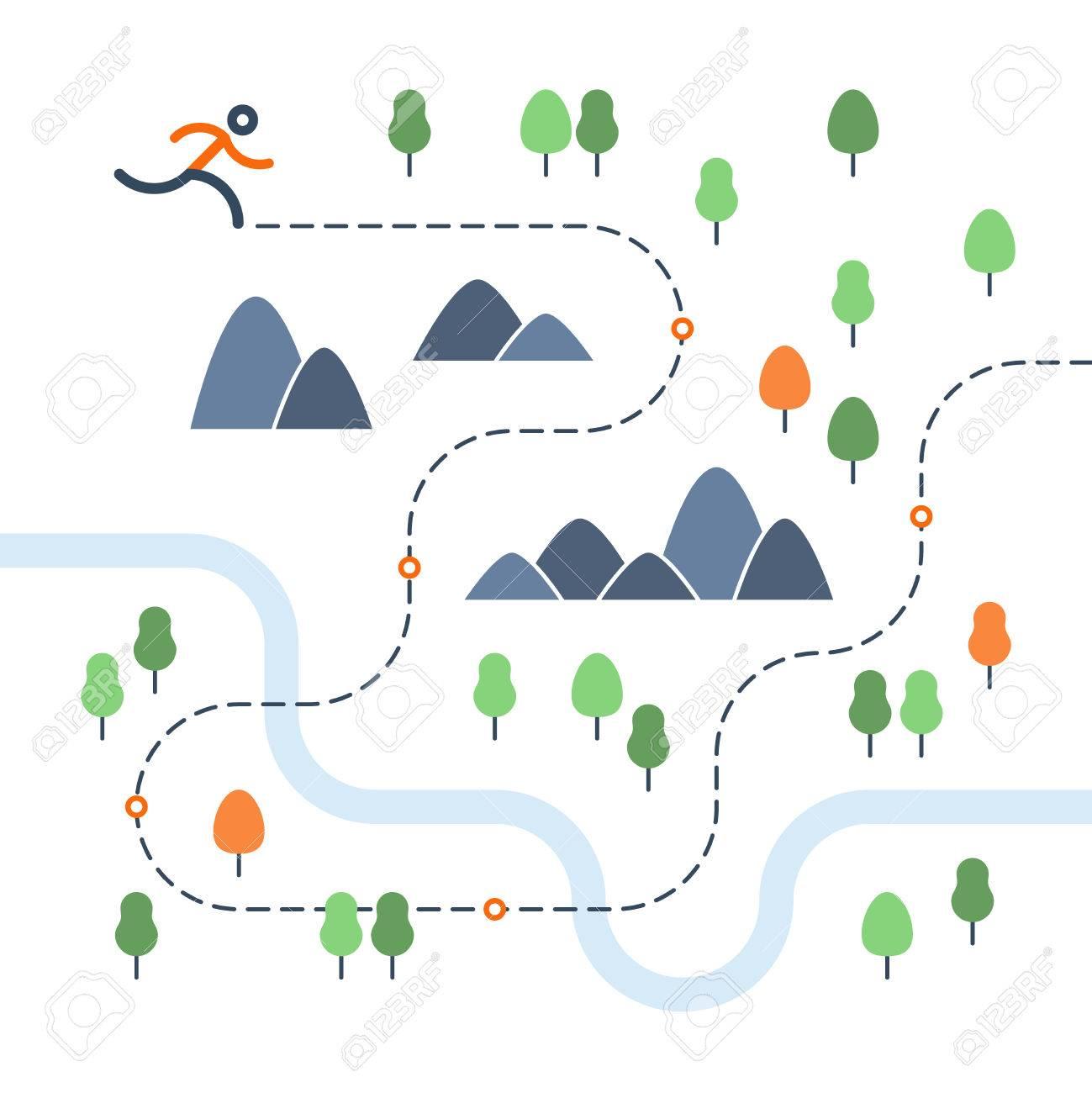Outdoor running map - 53496600