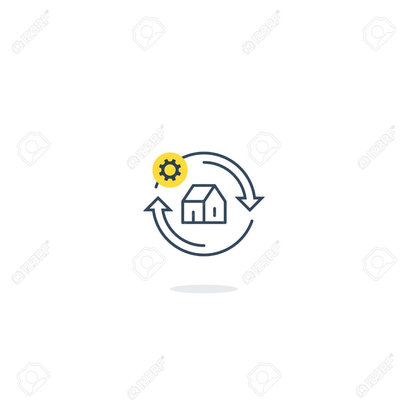 household concept home repair services house improvement icon