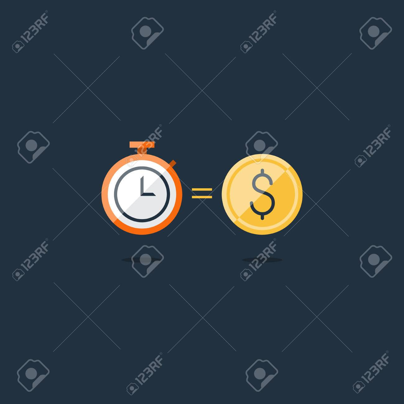 Time is money concept, savings account, cash bask - 61093699