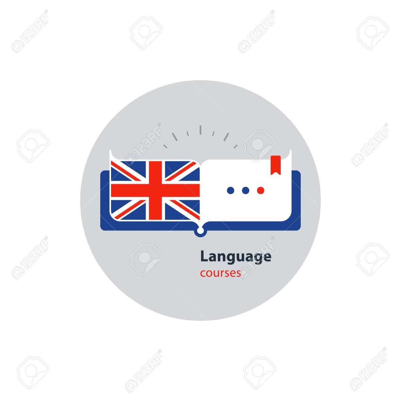 Advertising concept lingual classes. Flat design vector illustration - 68475042