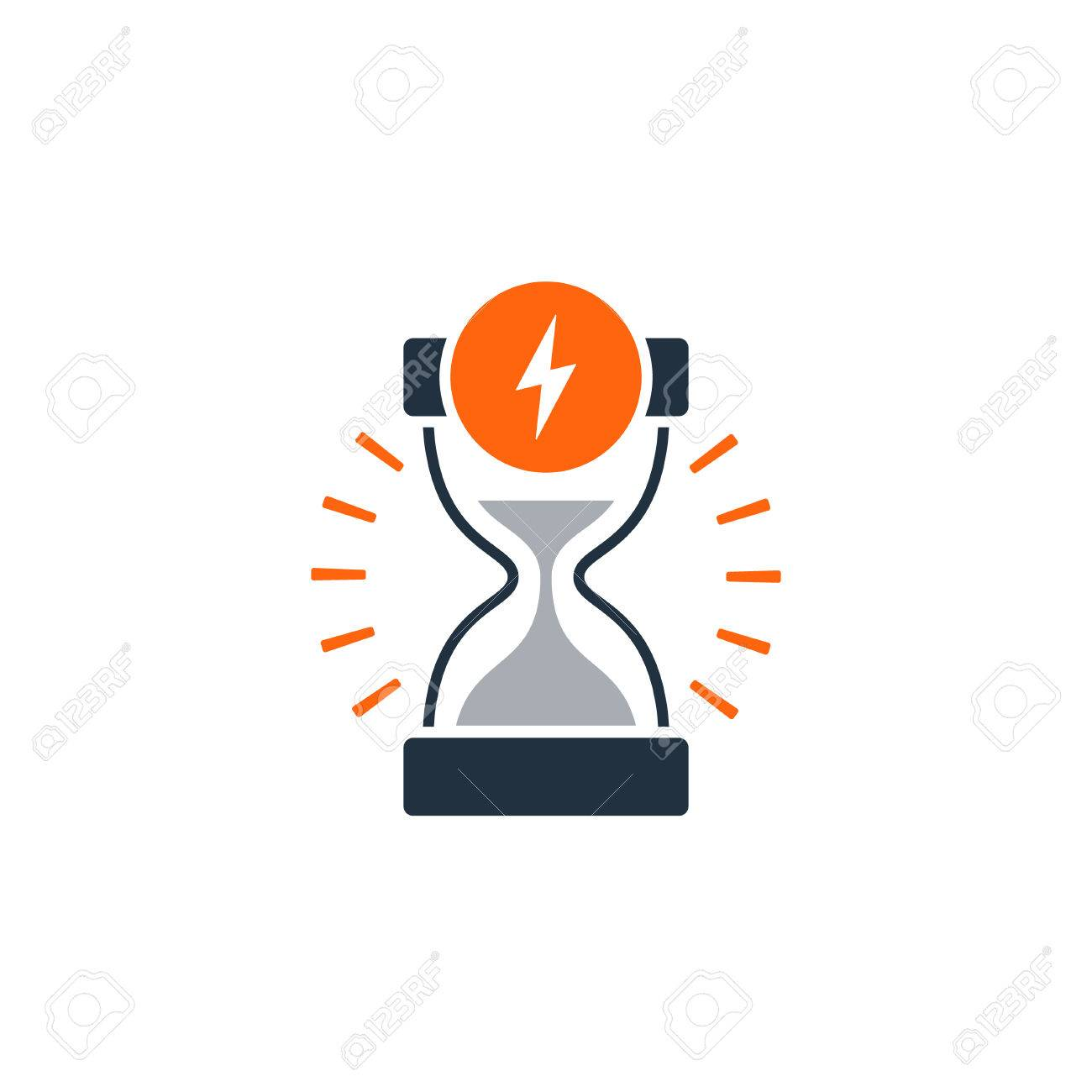 Fast delivery time concept icon. Satisfaction services. Flat design illustration - 68500833
