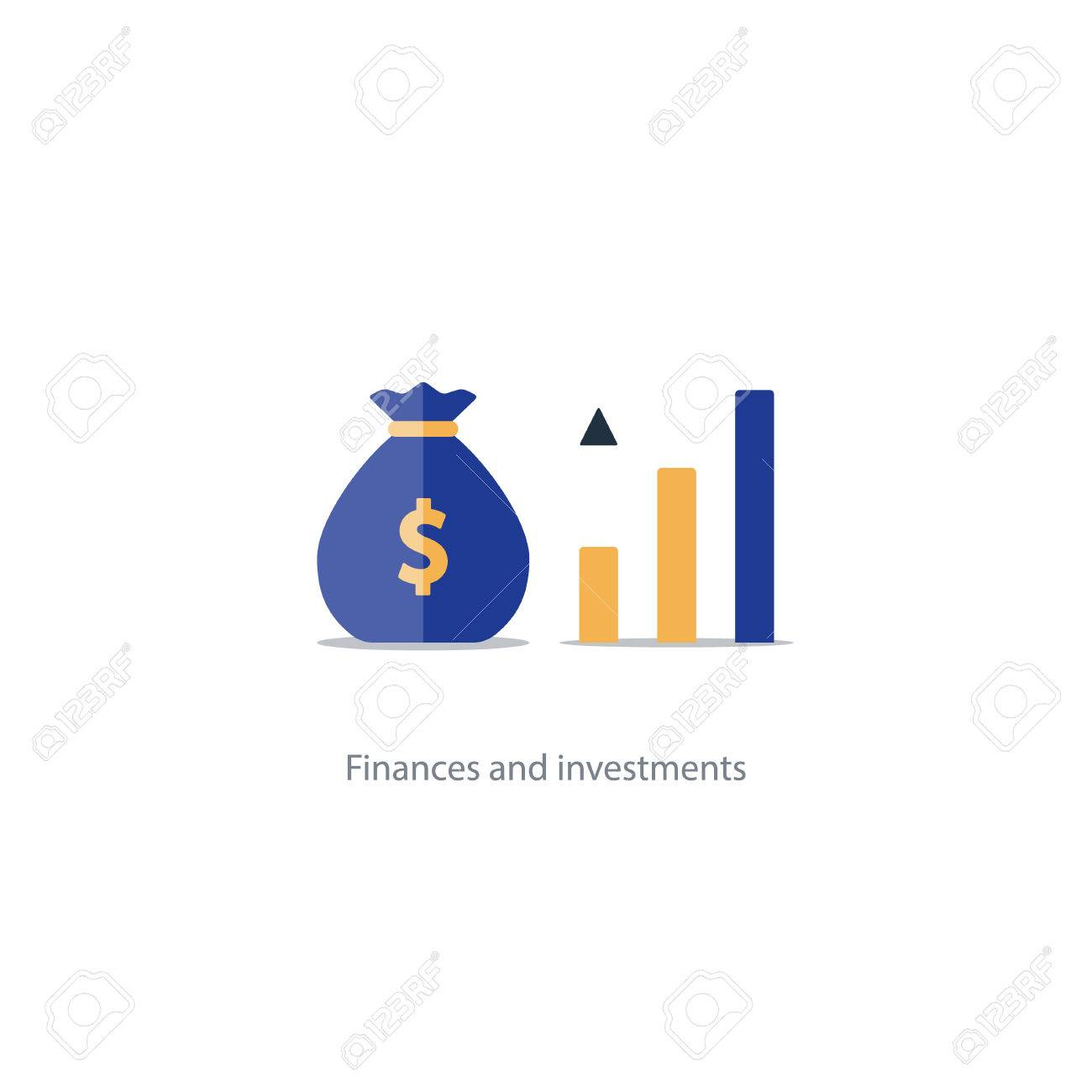 Compound interest, added value, financial investments in stock market, future income growth, revenue increase, money return, pension fund plan, budget management, savings account, banking vector icon - 70130311