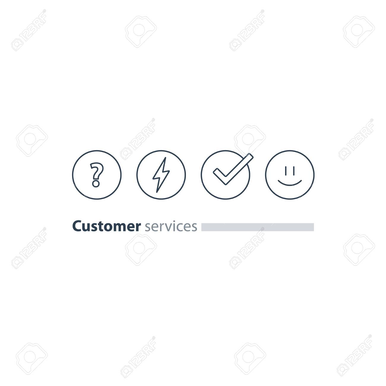 Good Experience Happy Emoji Icon Customer Support Services Feedback Concept Survey