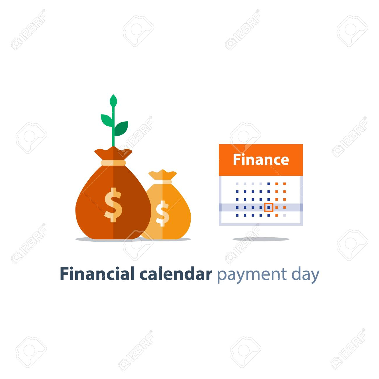 financial calendar illustration budget plan payment bay finance