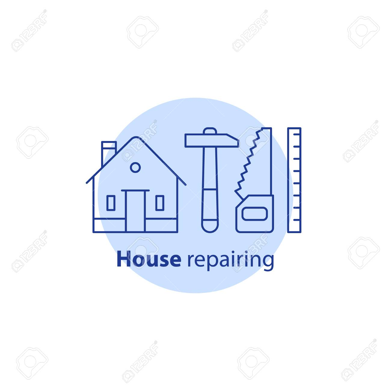 House Repair Services Carpenter Concept Home Improvement And Royalty Free Cliparts Vectors And Stock Illustration Image 93820984