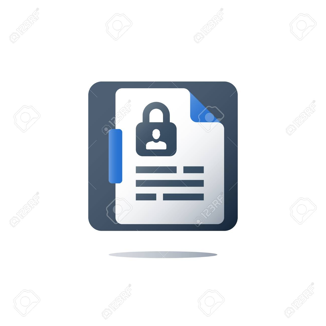 Personal Data Security Gdpr Concept Privacy Policy Contract Nondisclosure Secret Document