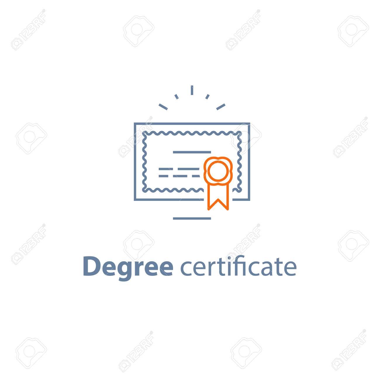 Graduation Certificate | Graduation Diploma Degree Certificate Education Concept Vector