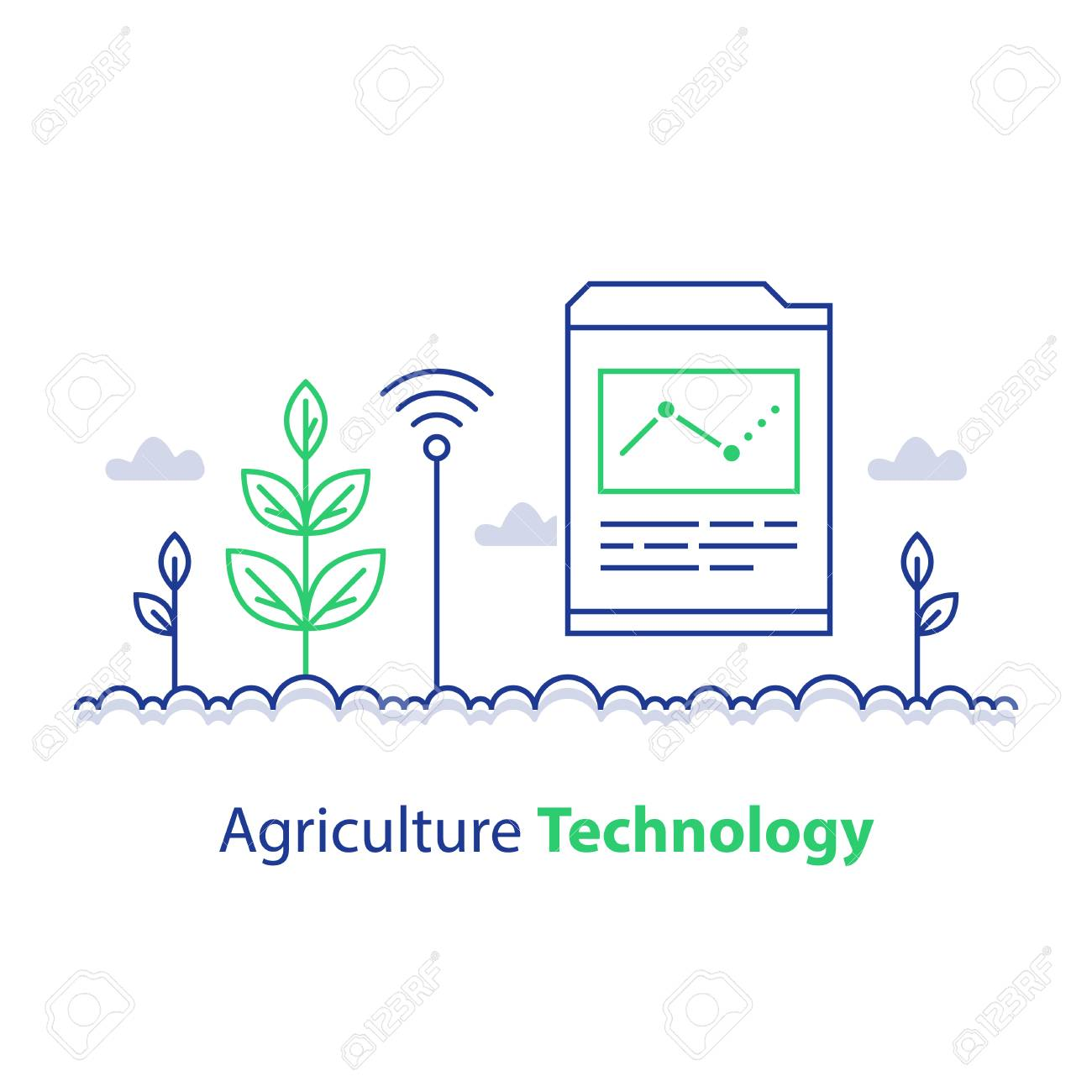 Agriculture technology, smart farming, plant stem and report