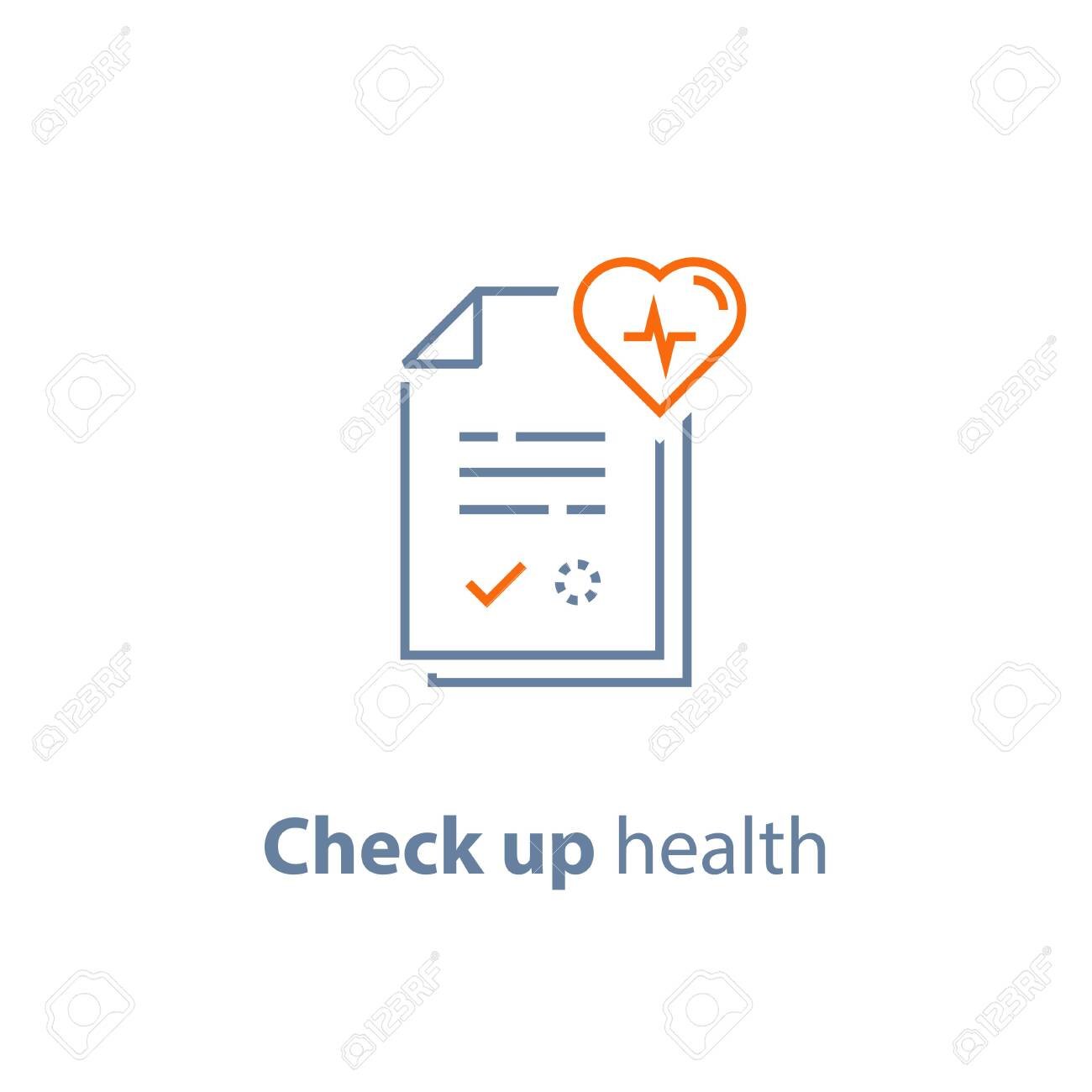 Health check up, cardiovascular disease prevention test, heart