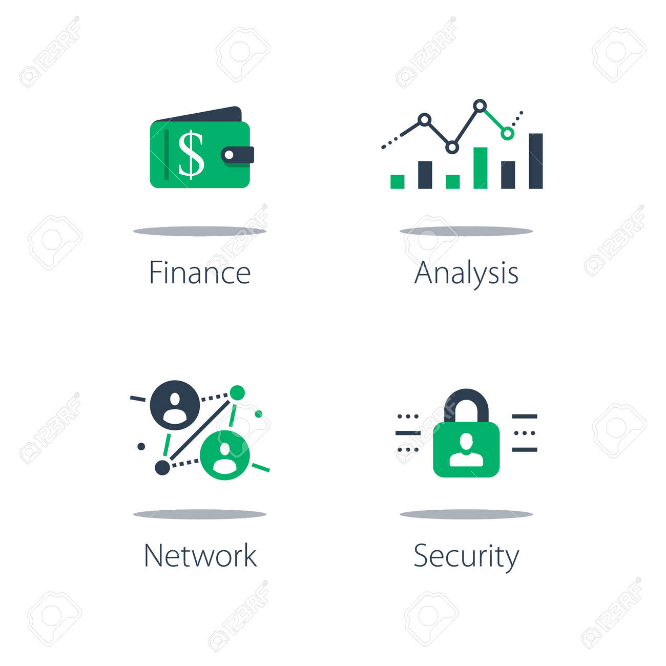 Online finance, internet banking, web security, computer monitor and padlock, financial security system - 150740354