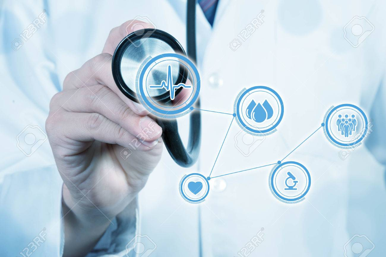 Doctor use stethoscope, medical concept - 50418115