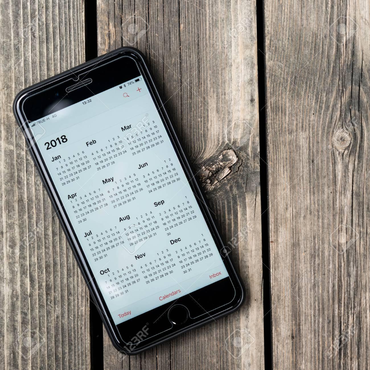 bangkok thailand november 26th 2017 iphone 8 plus show calendar of 2018