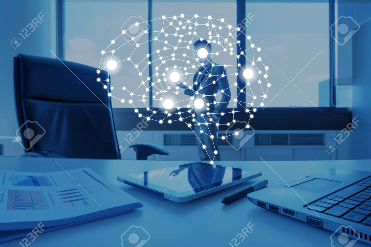 AI conceptual in business technology, artificial inteligence concept - 92883335