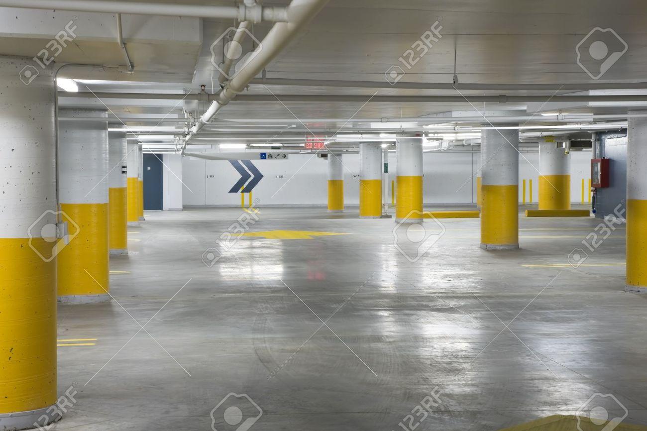 Interior view of a new underground parking garage Stock Photo - 4487409