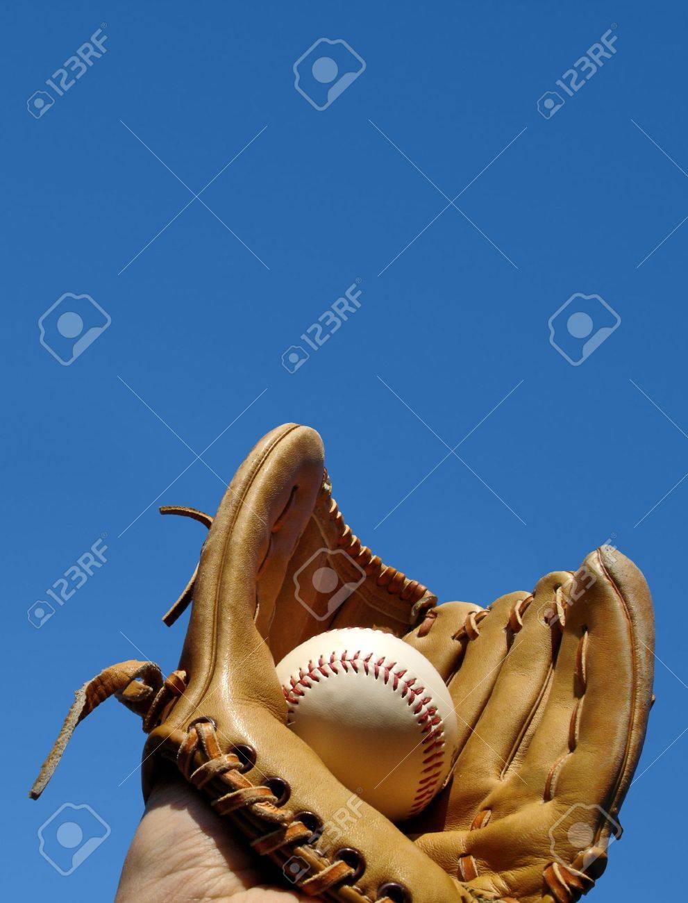 Baseball Catch Portrait Stock Photo - 3657532