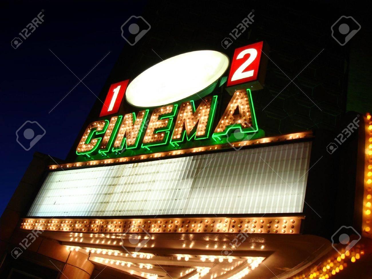 Cinema Sign Blank Stock Photo - 3657552