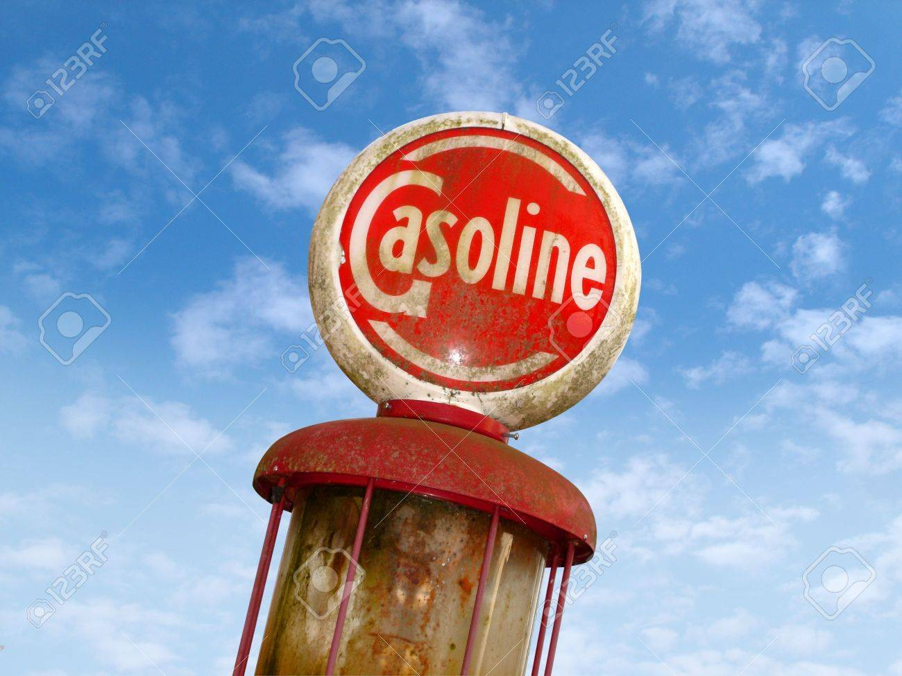 Old Gas Sign Stock Photo - 3670248
