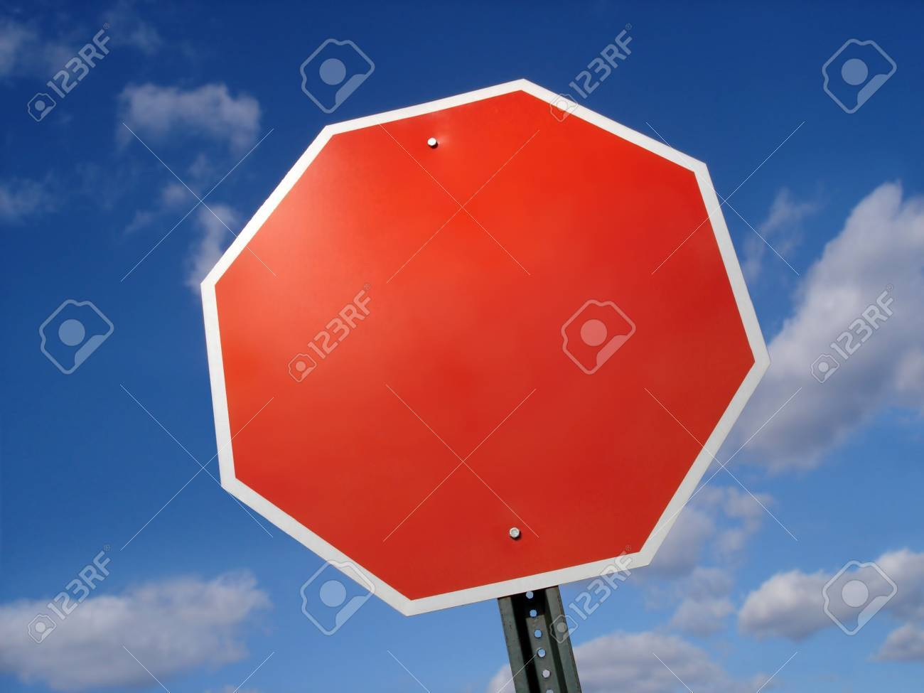Stop Sign Blank Stock Photo - 3670239