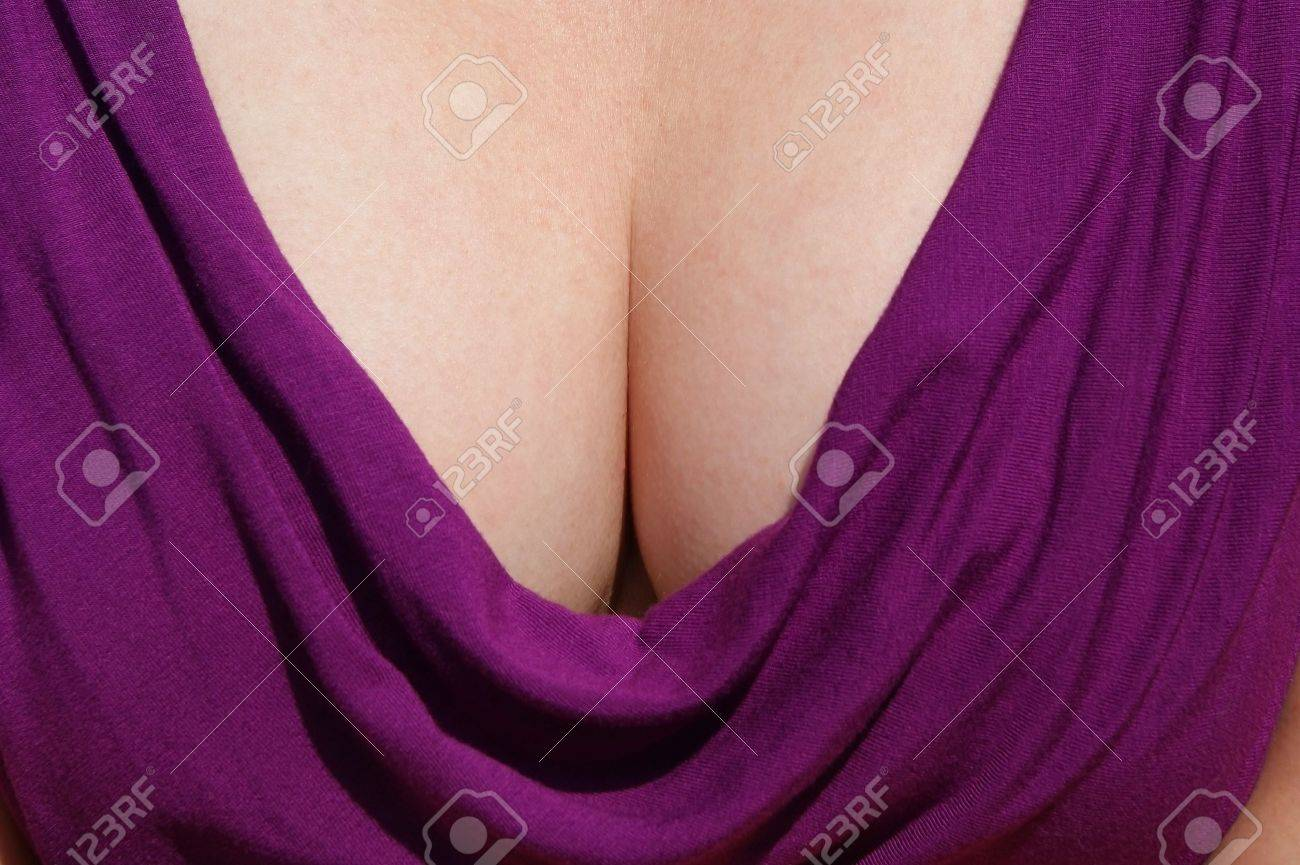 Taseful representative view of a woman's cleavage. Stock Photo - 8605036