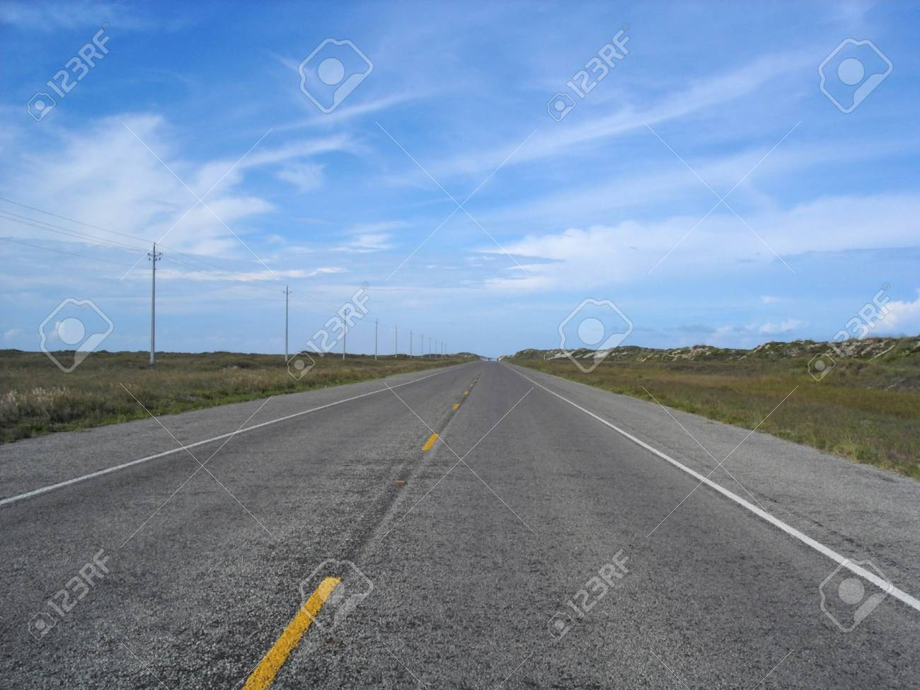 View of a desolate road stretching off into the distance. Stock Photo - 8669519