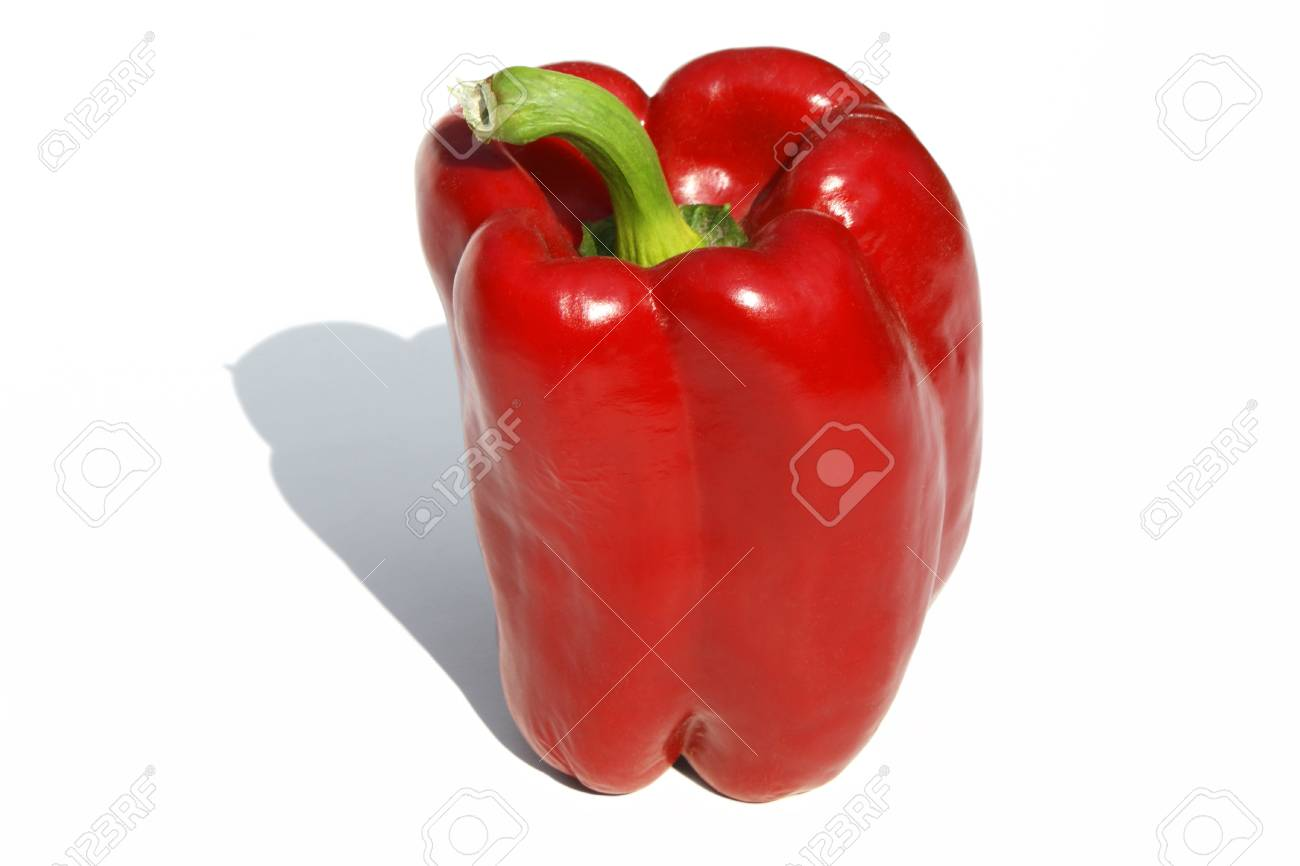 Red pepper isolated on white. Stock Photo - 8952157