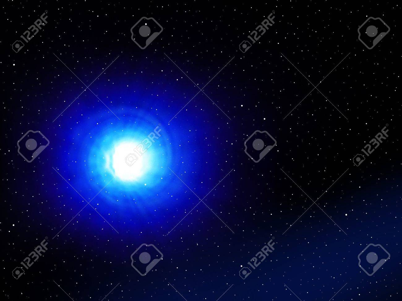 Blue wormhole in space in a fantasy galaxy. Stock Photo - 10775825