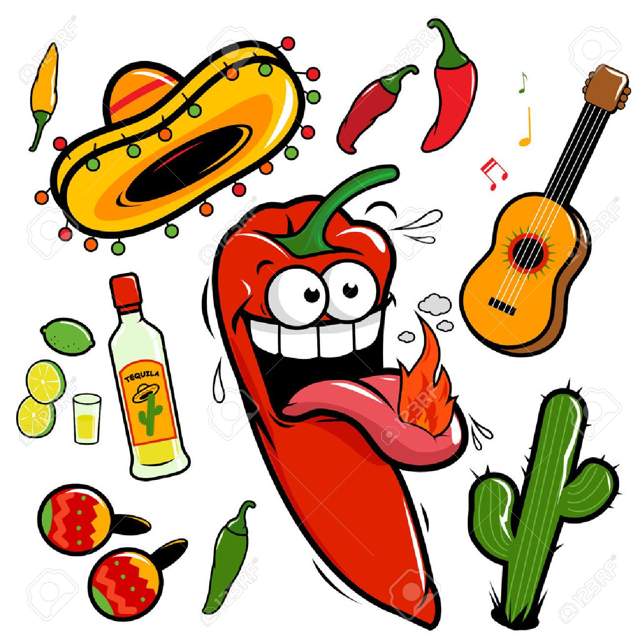 mariachi chili pepper mexican vector set royalty free cliparts rh 123rf com mariachi clipart free mexican mariachi clipart