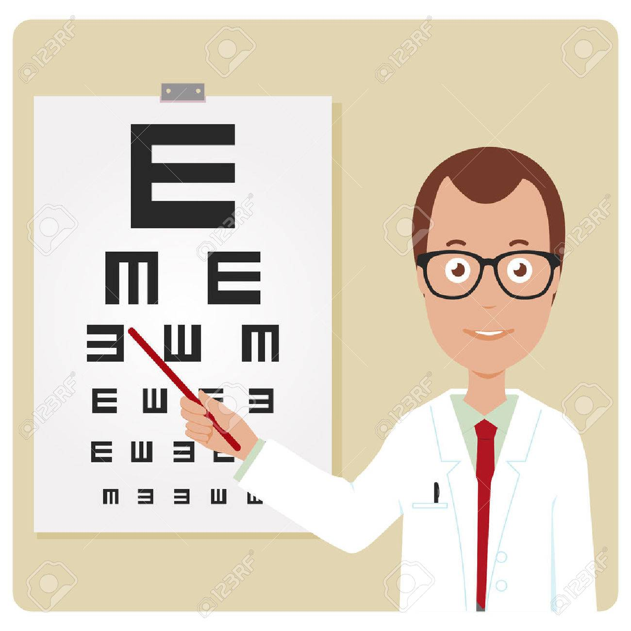 Ophthalmologist examining a patient using the eye chart royalty ophthalmologist examining a patient using the eye chart stock vector 42559412 nvjuhfo Choice Image