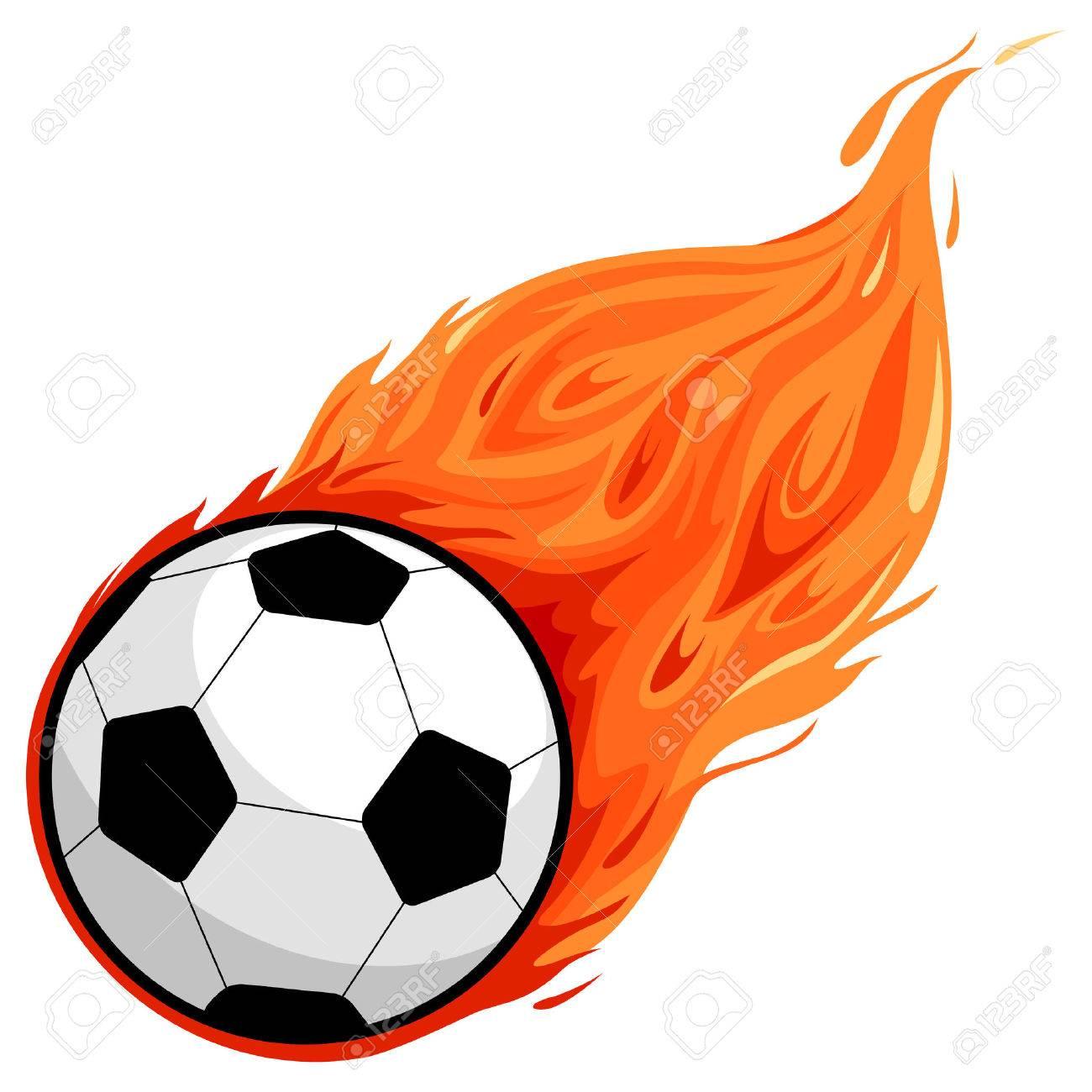 Soccer ball on fire - 43474610