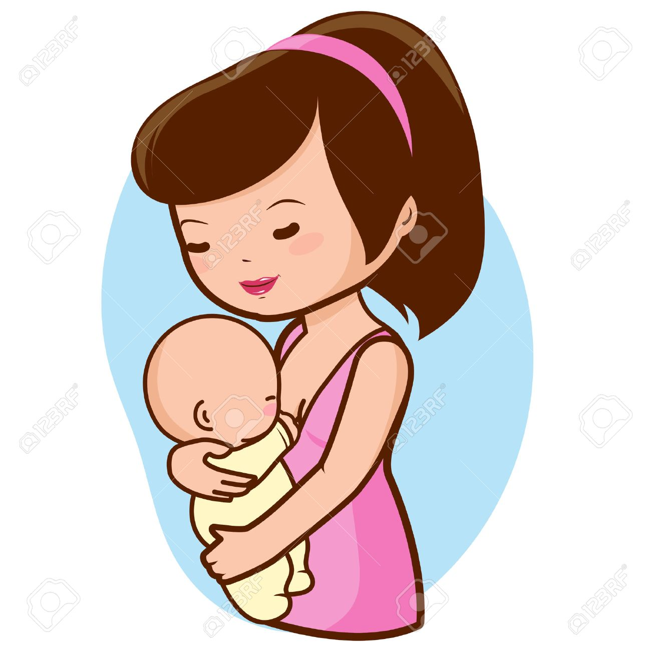 Mother breastfeeding baby - 44877855