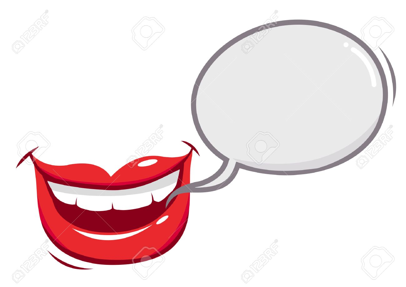 mouth talking with a speech bubble royalty free cliparts vectors rh 123rf com Nose Vector Nose Vector