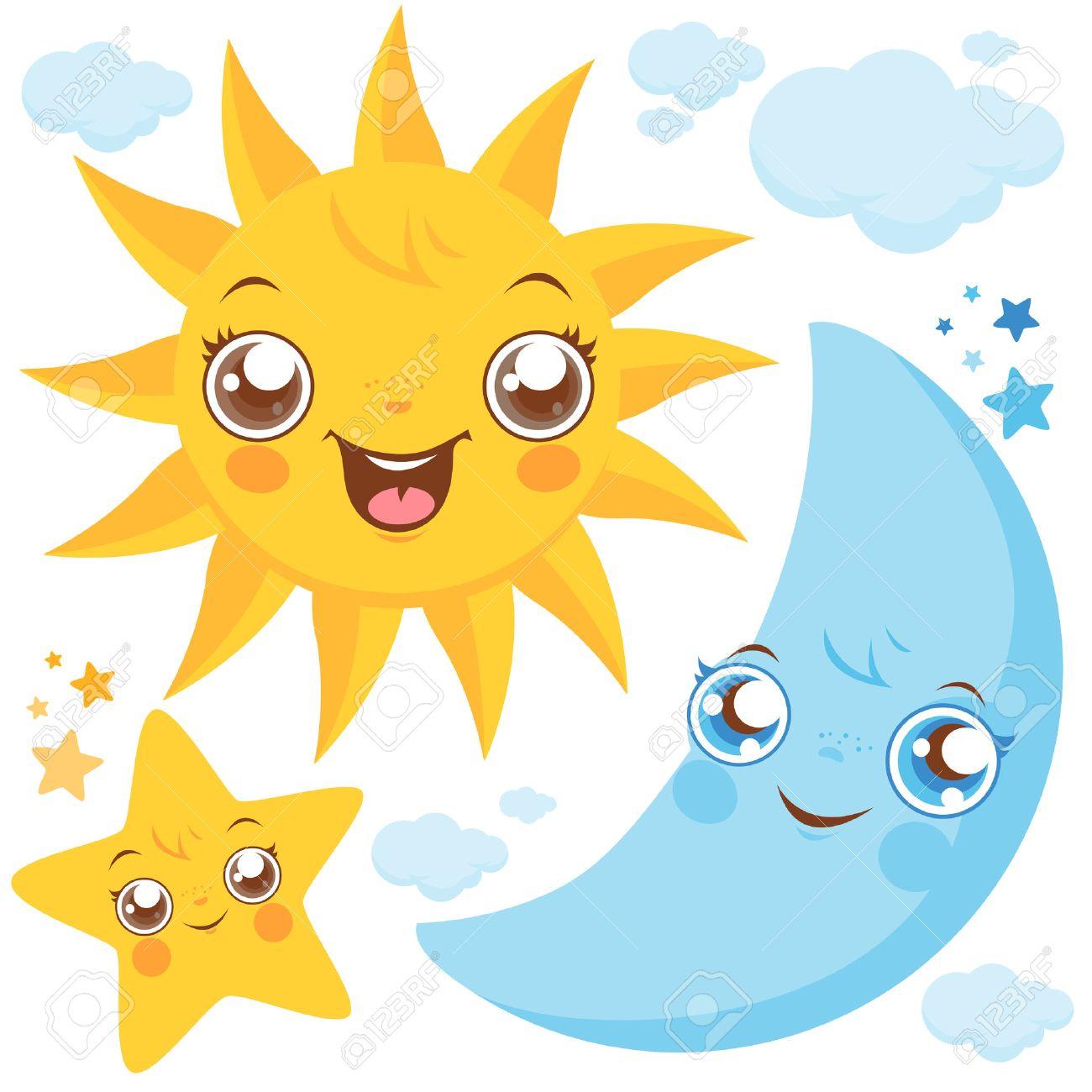 Sun moon and stars - 50050654