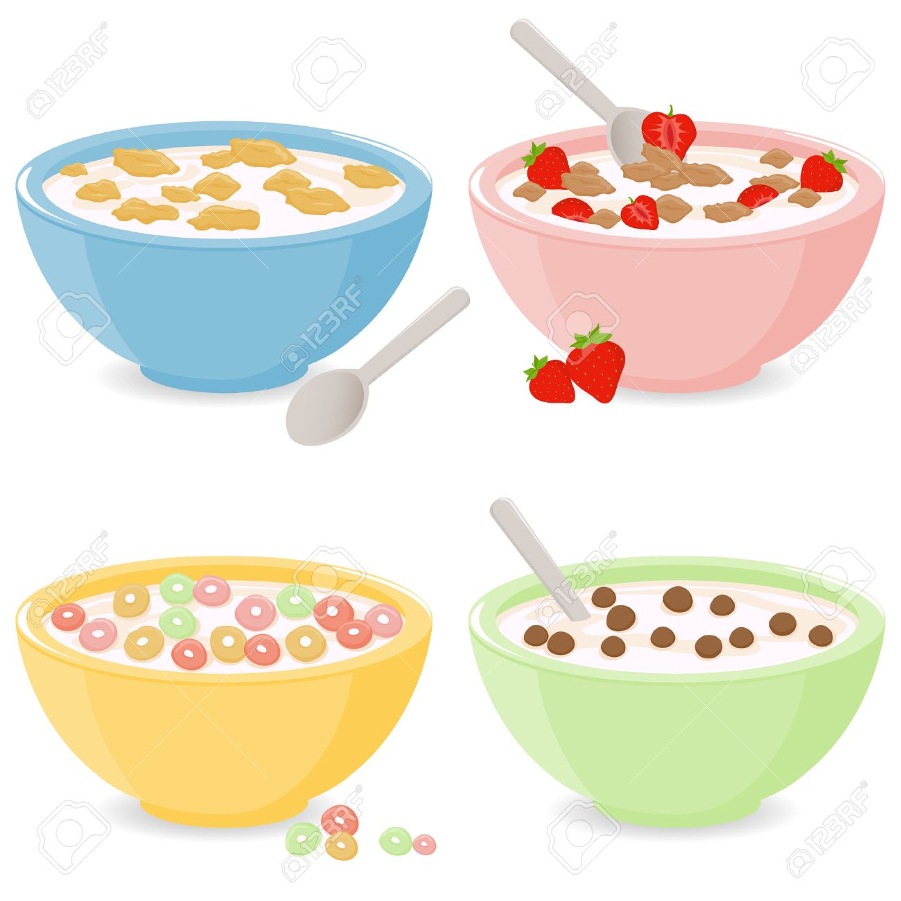 Bowls of breakfast cereal - 50050668