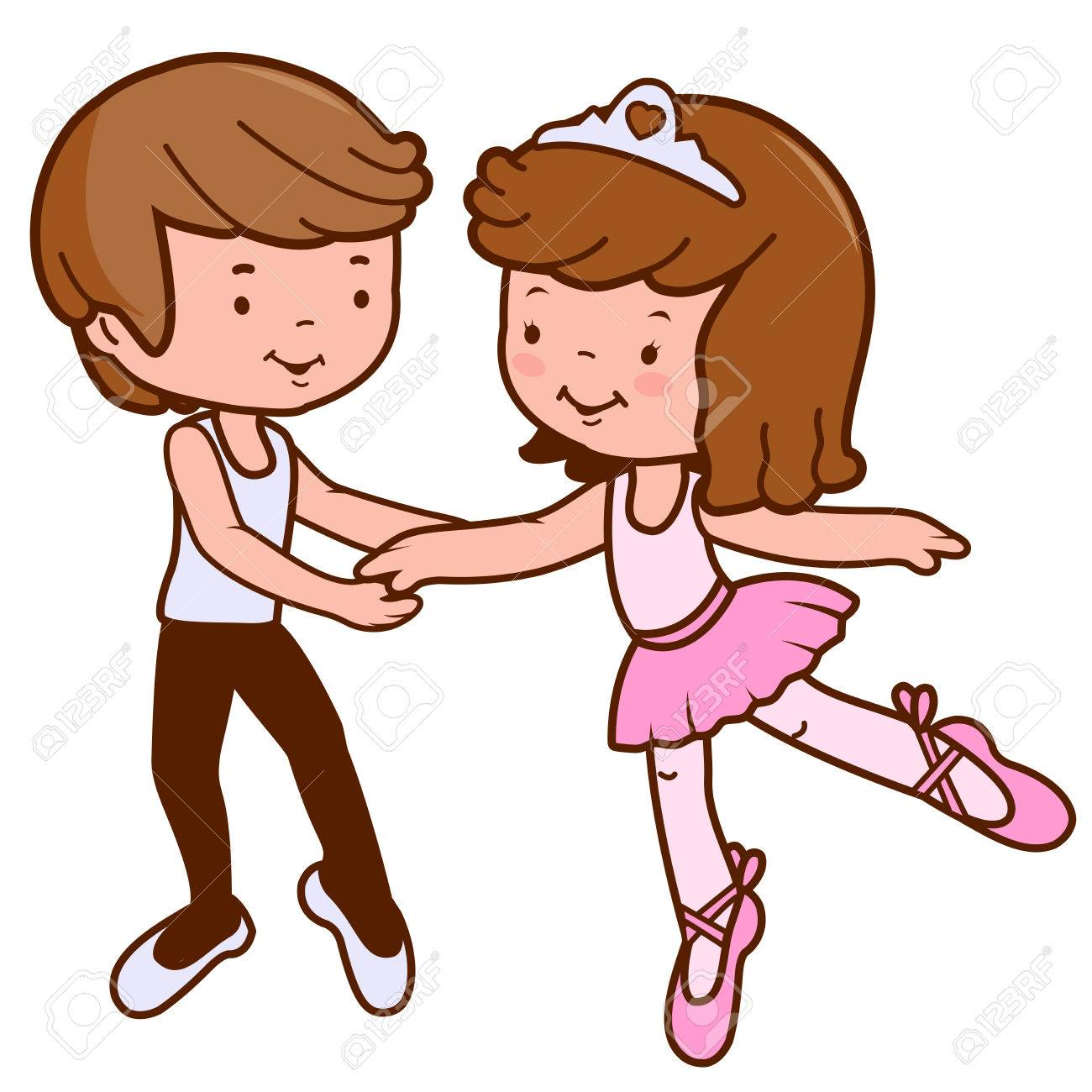 boy and girl ballet dancers royalty free cliparts vectors and rh 123rf com