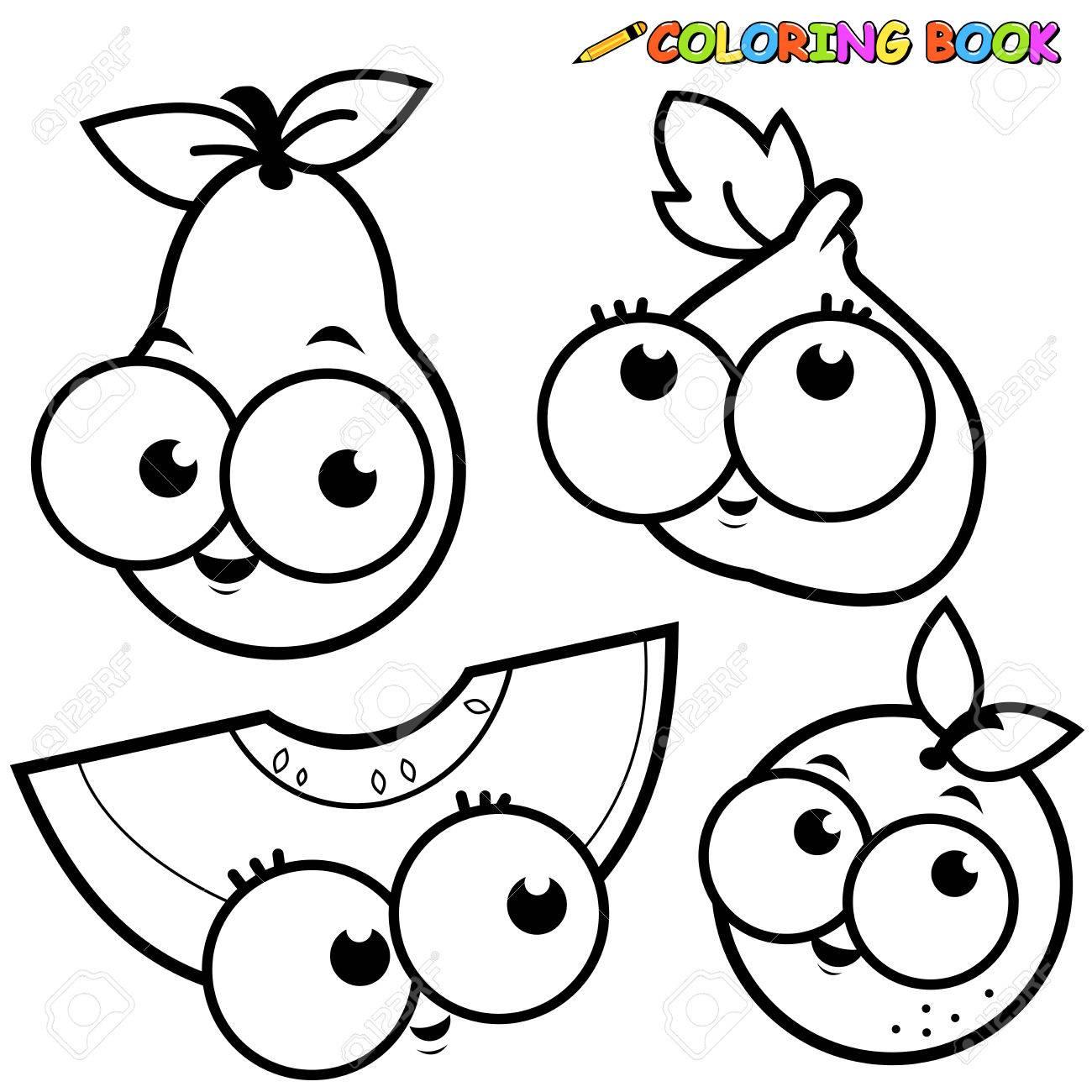Dibujos De Frutas Para Colorear Kawaii Imagesacolorierwebsite