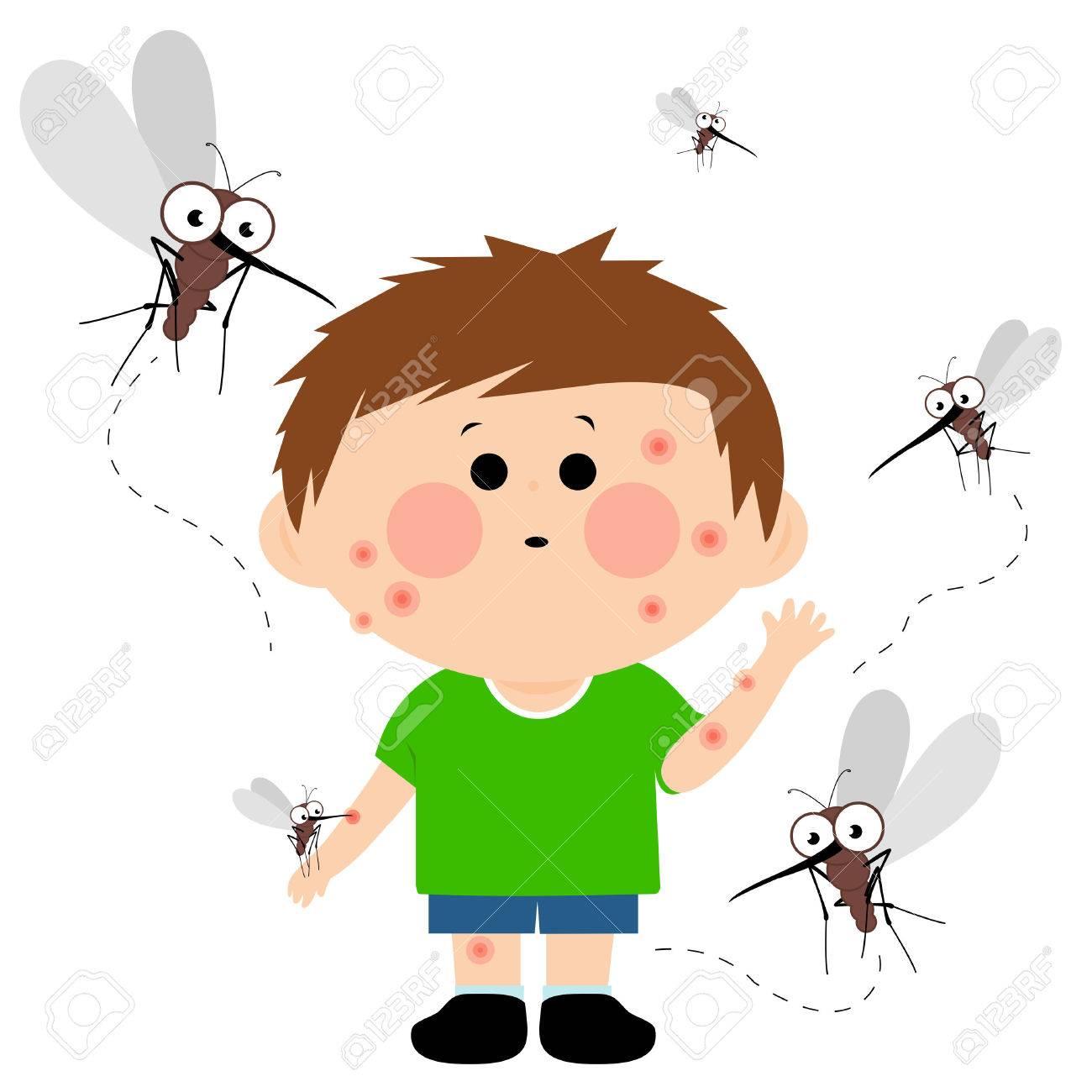 Boy bitten by mosquitoes - 54273223