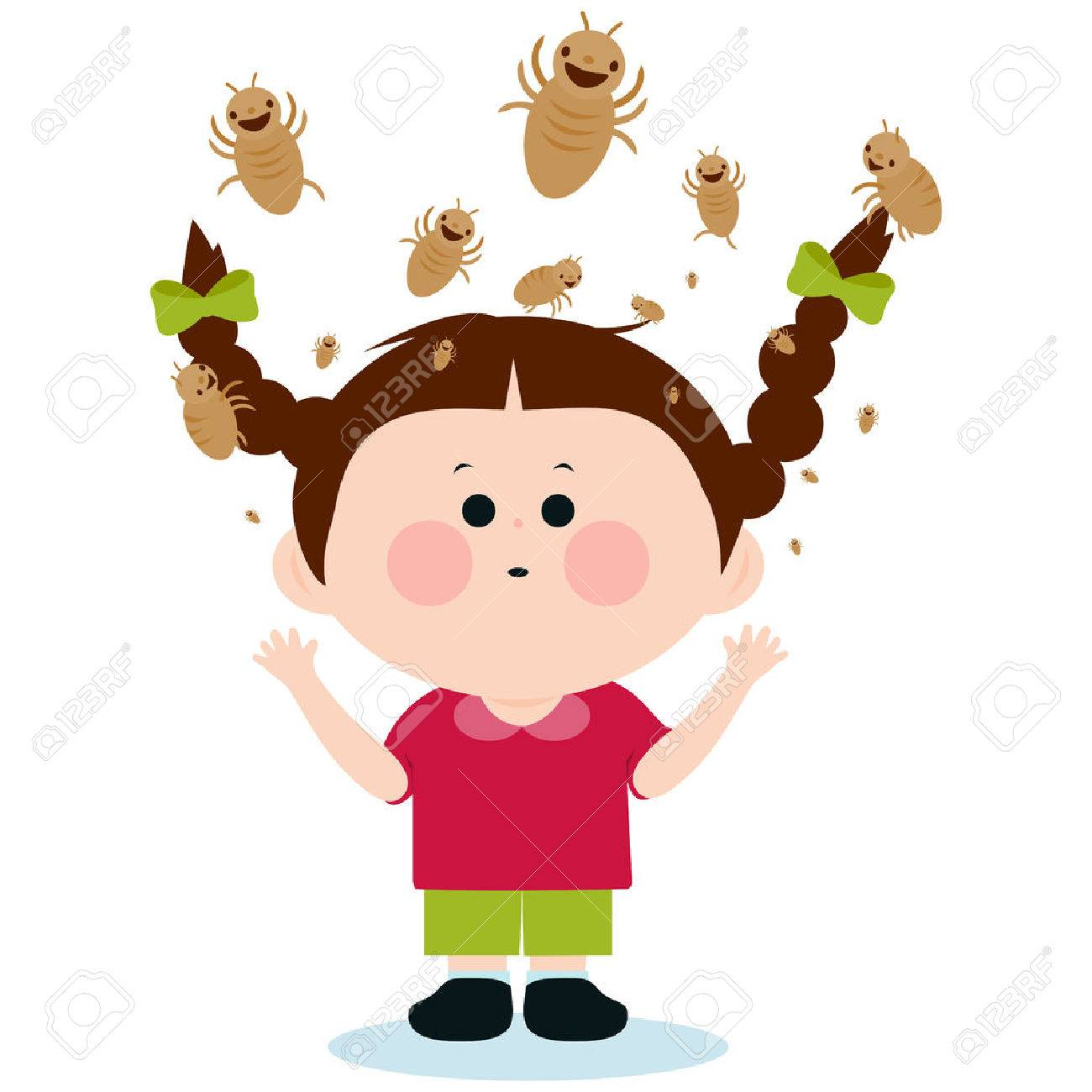 Girl with lice - 55450705