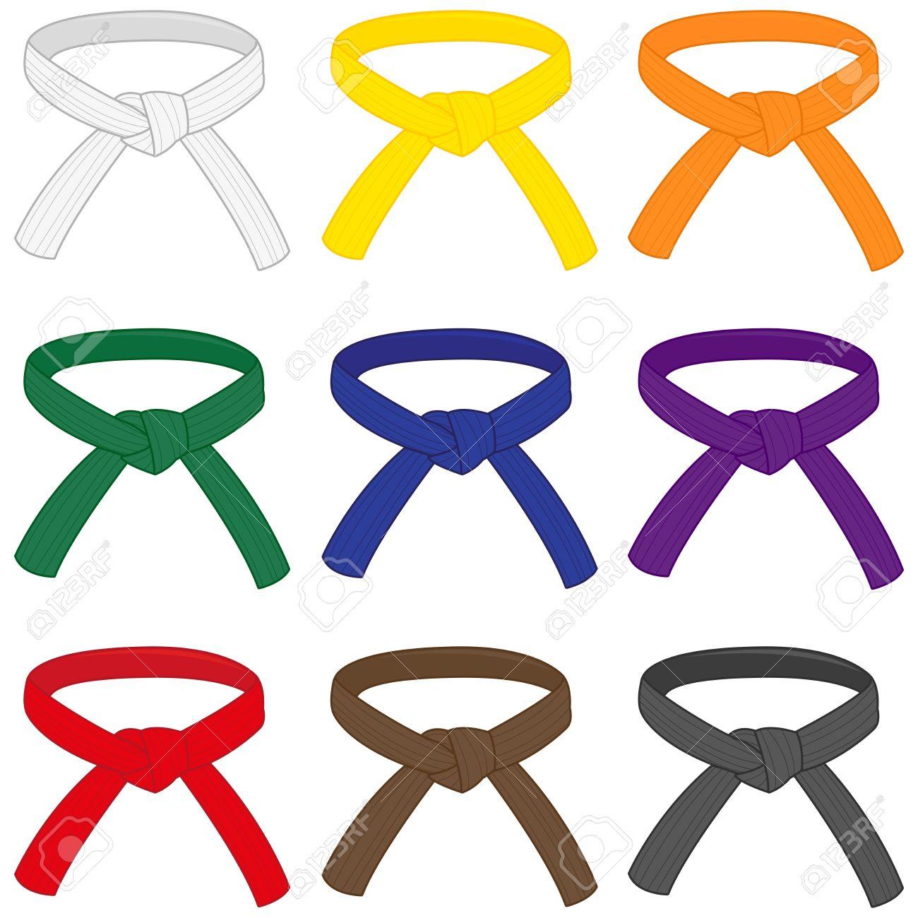5ff9cdc2b30 Banque d images - Ceintures d arts martiaux avec des couleurs différentes  de rang. Karaté