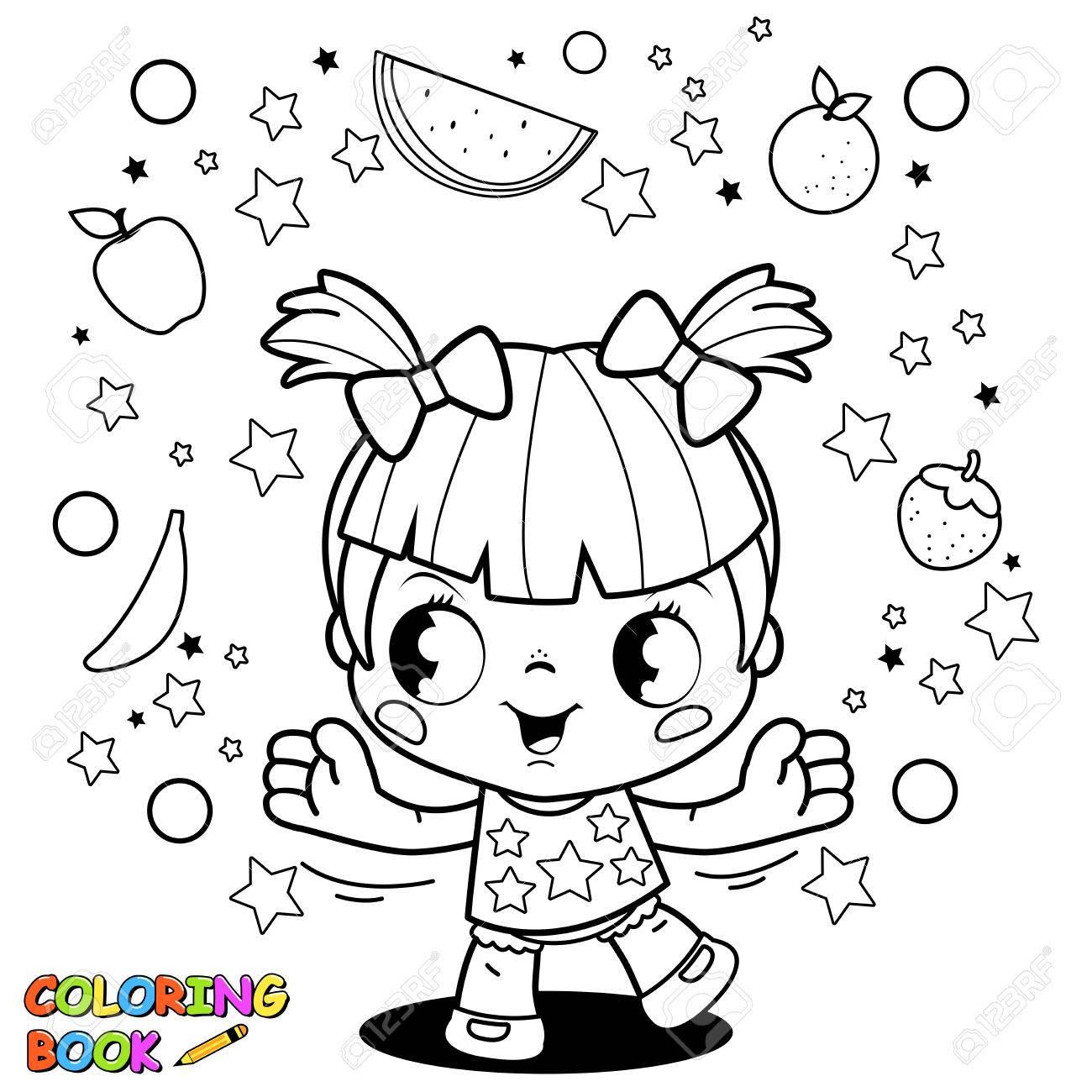 Pequeño Libro De Colorear La Fruta Chica Linda Malabares ...