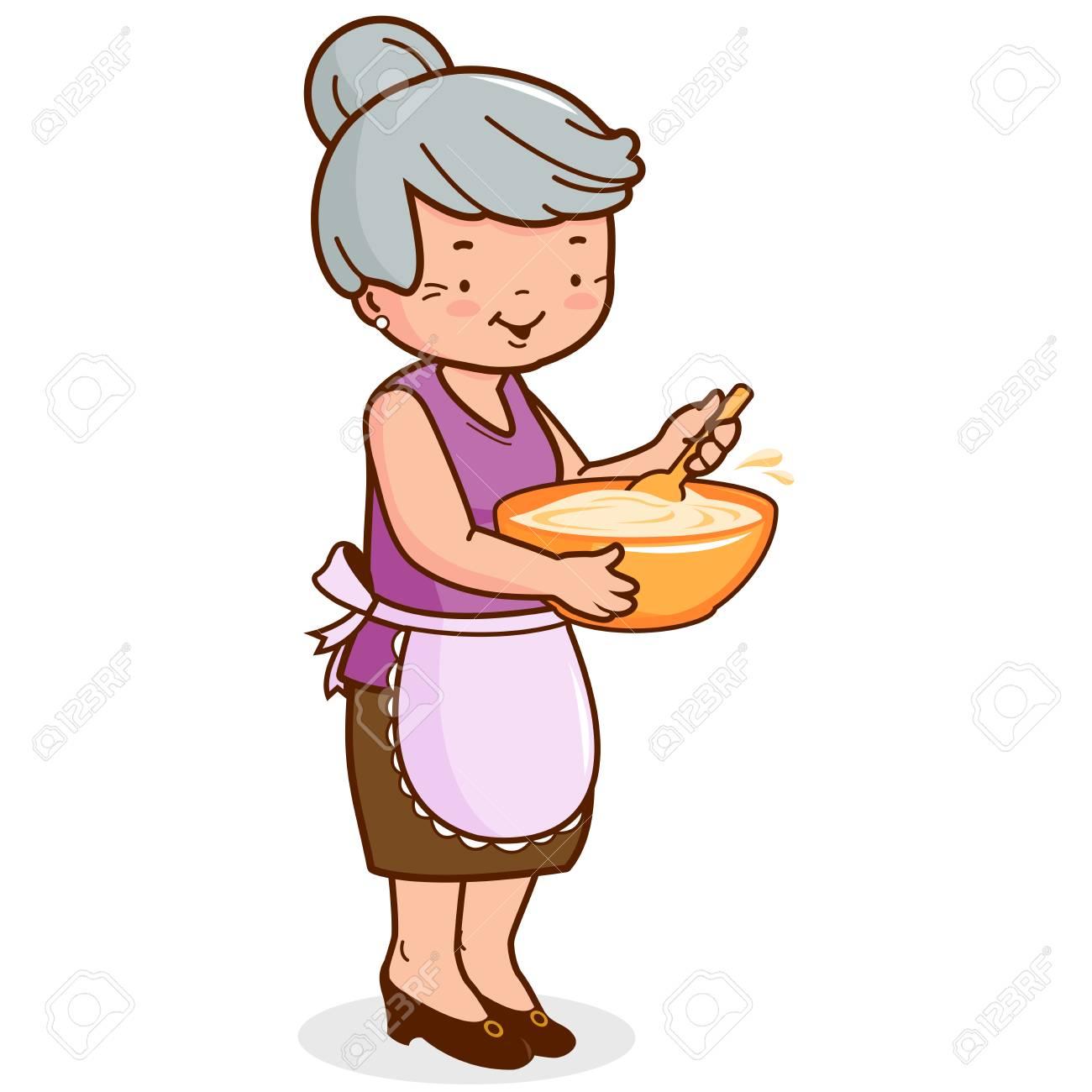 Grandma cooking - 84749048