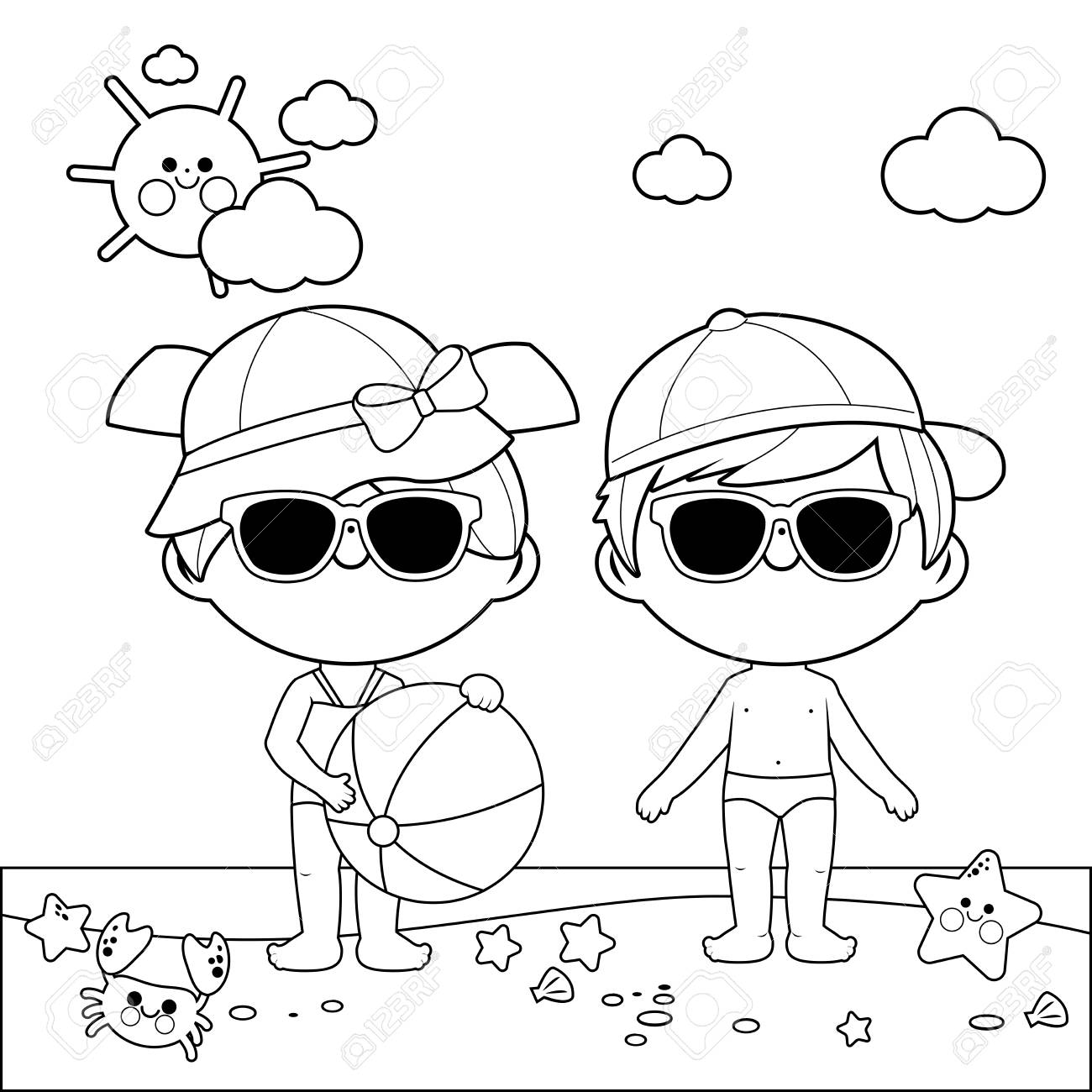 Bunny with Eyeglasses Free Coloring Pages for Kids - Printable ... | 1300x1300
