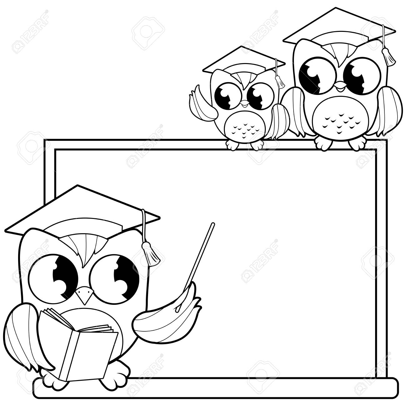 Teacher Black Woman Standing With Open Book At The Blackboard.. Royalty  Free Cliparts, Vectors, And Stock Illustration. Image 110714474.